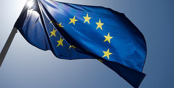 Powieszona namaszcie flaga Unii Europejskiej